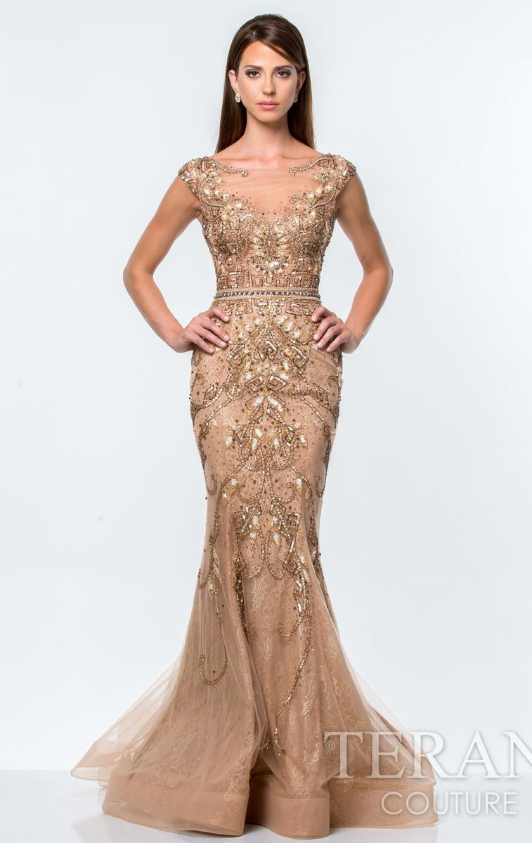 Embellished Lace Gown by Terani Couture Evening