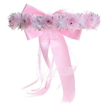 KID Collection Girls Angelic Organza Rose Flower Girl Halo
