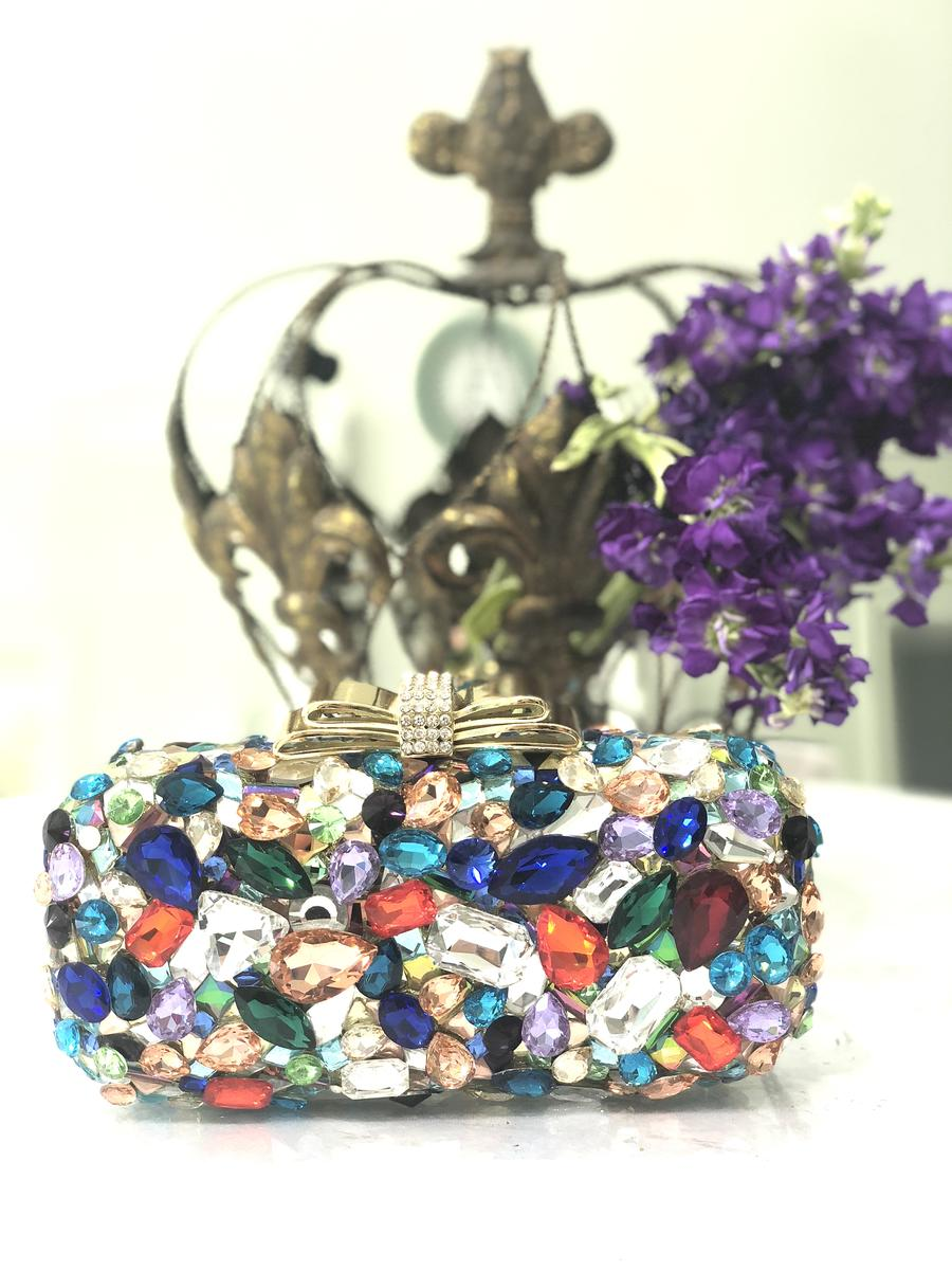 Rhinestone Multi Clutch
