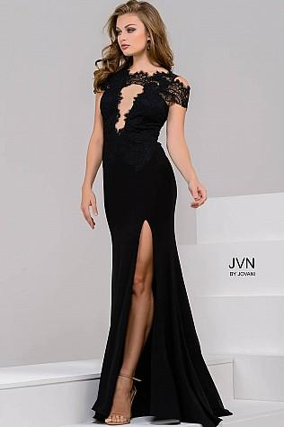 Jovani Laced Keyhole Dress