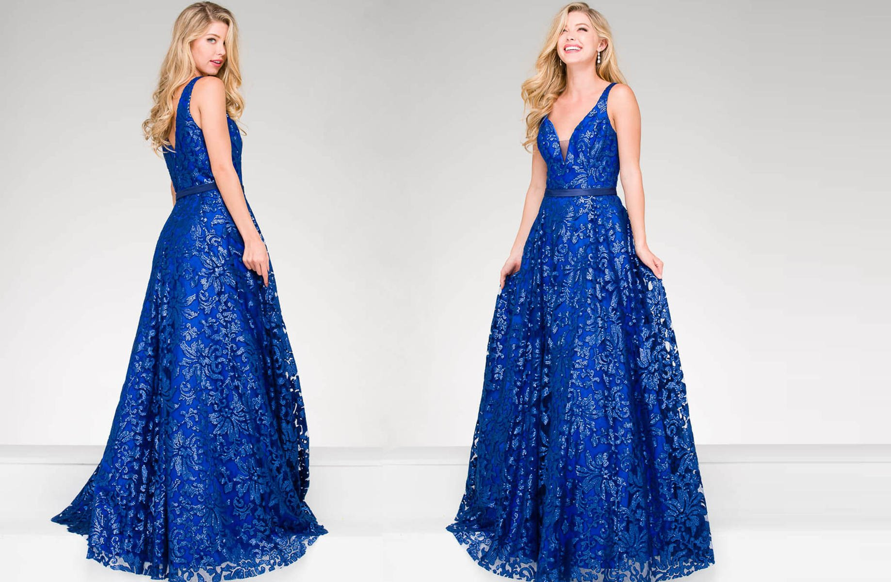 Jovani Floral Detail Ball Gown
