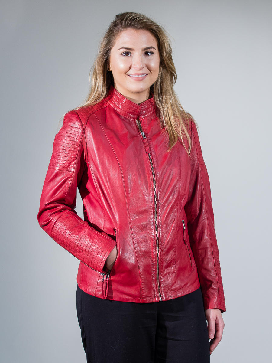 Leather Biker Jacket 8476