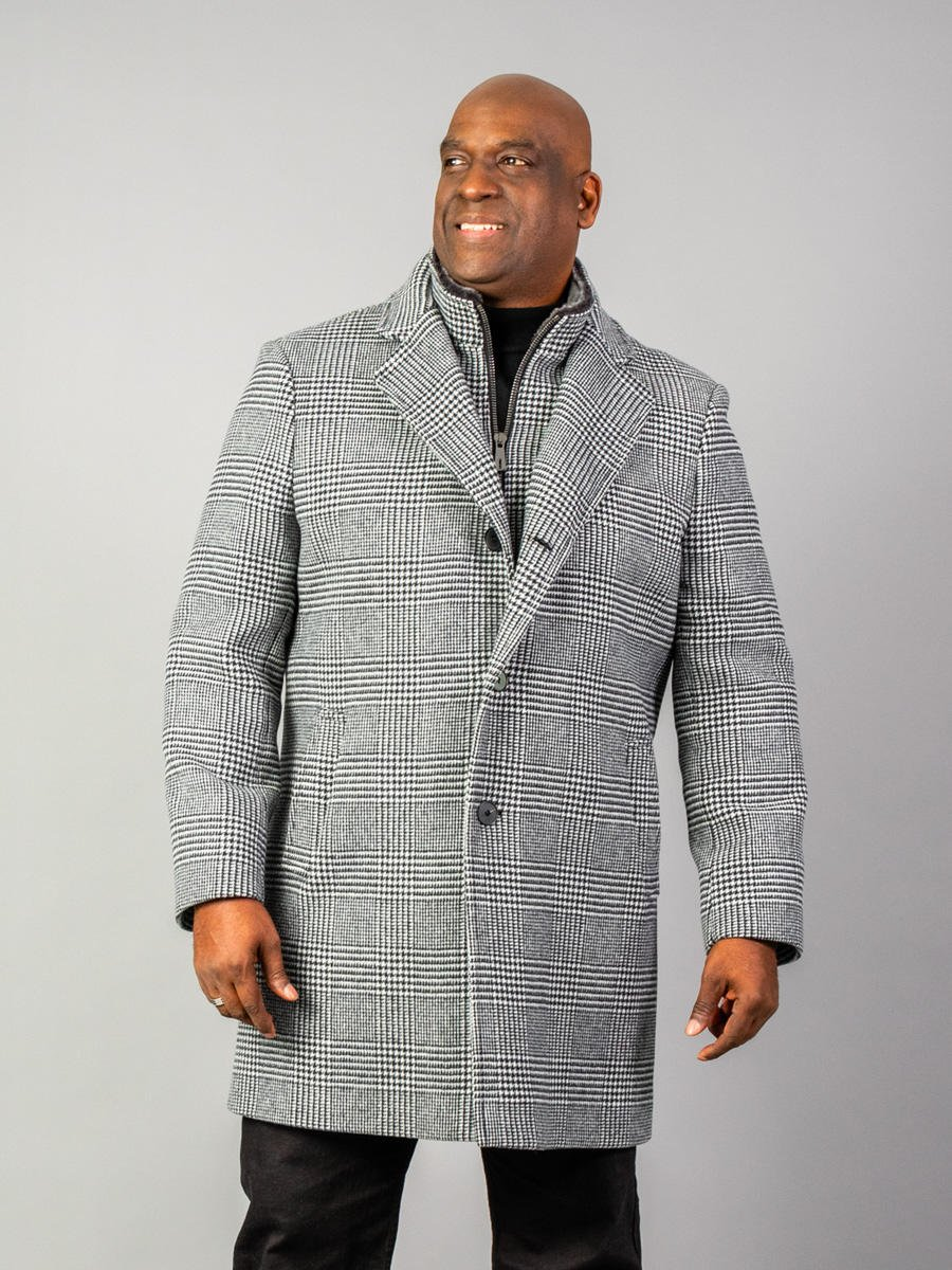 Italian Cashmere Wool Mens Jacket with Sherling Collar