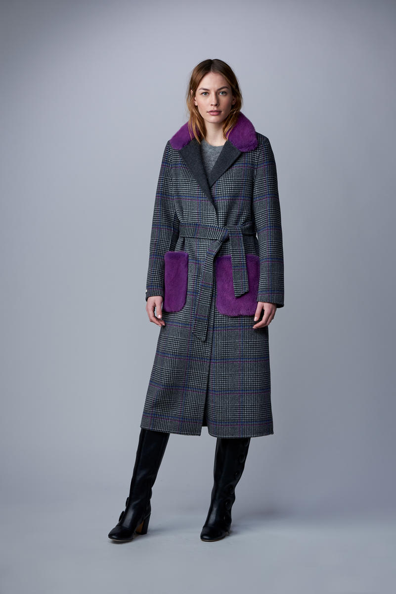 Cashmere Double Breasted Reversible Coat