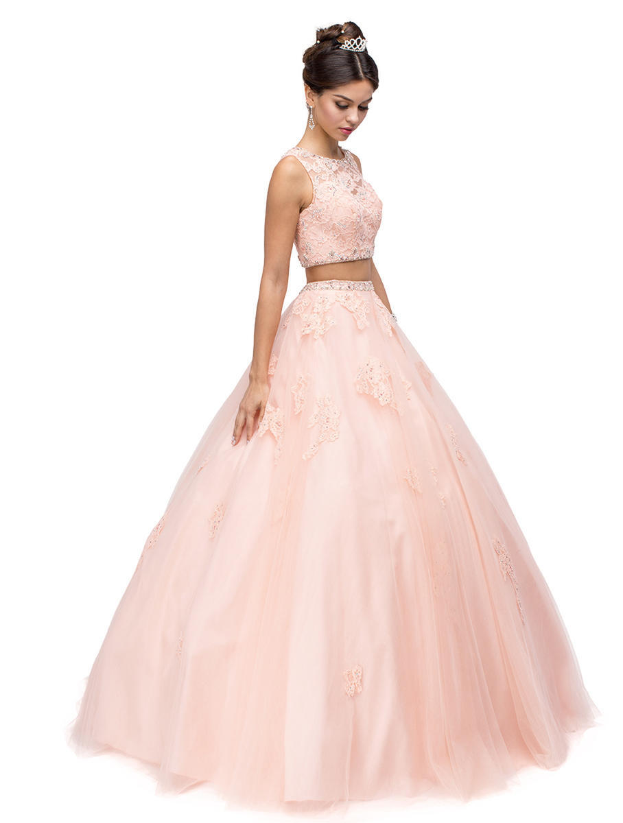 Dancing Queen - Beaded Embroidered Two-Piece Ball Gown