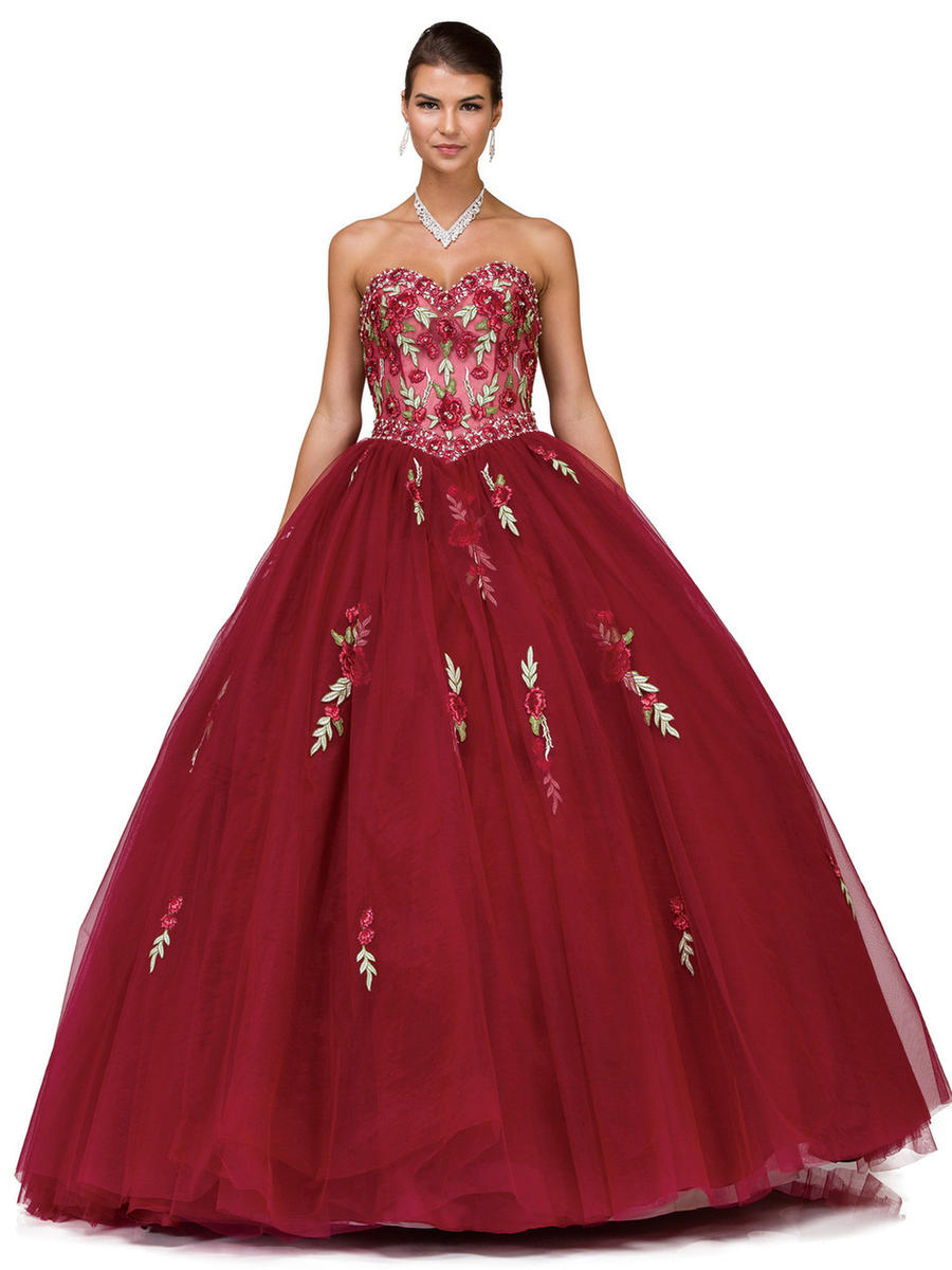 Dancing Queen - Embroidered Tulle Ball Gown