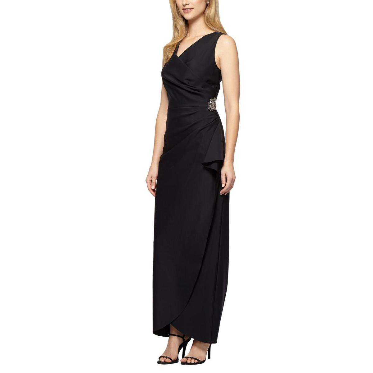 ALEX APPAREL GROUP INC - Sleeveless V-Neck Wrap Waist Gown