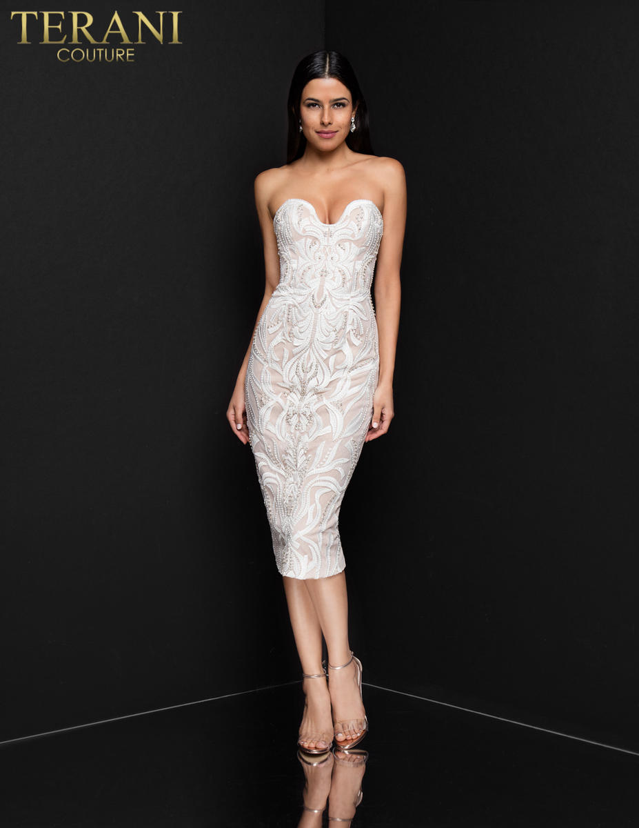 Strapless Embroidered Bead Dress