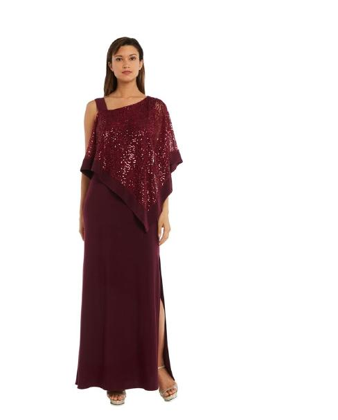 R & M Richards - Jersey Gown Lace Mettalic