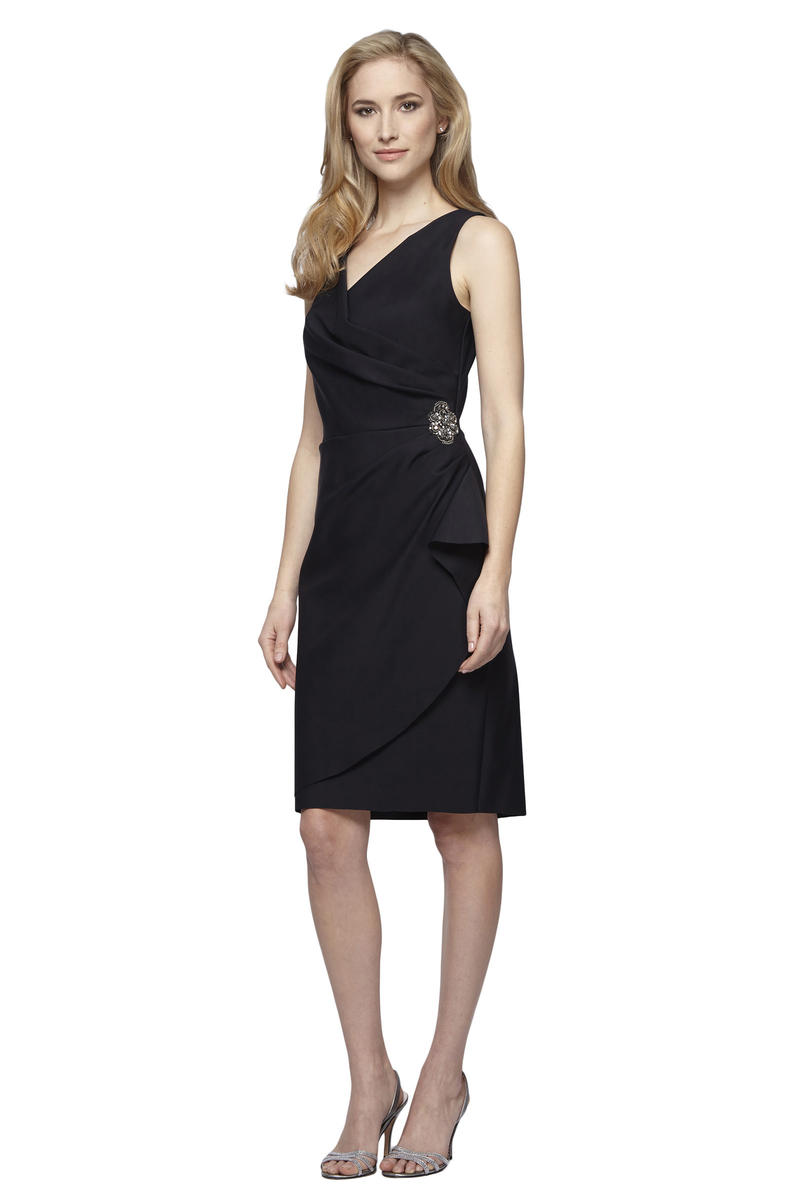 ALEX APPAREL GROUP INC - Petite Ruched Waist Cocktail Dress