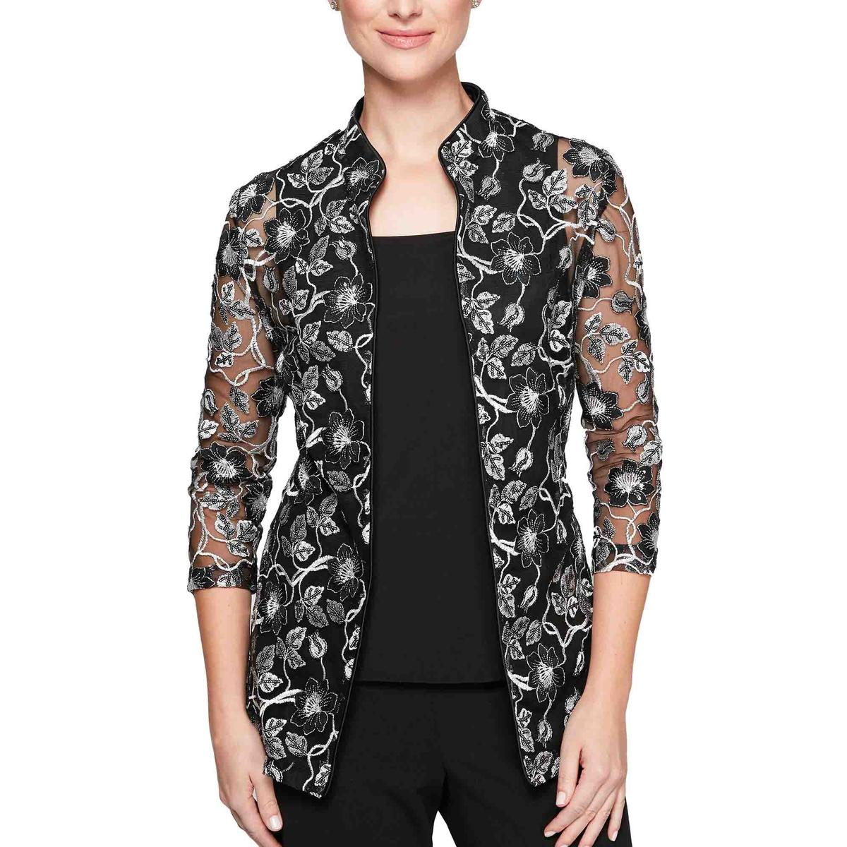 ALEX APPAREL GROUP INC - Floral Embroidered Jacket & Camisole Set
