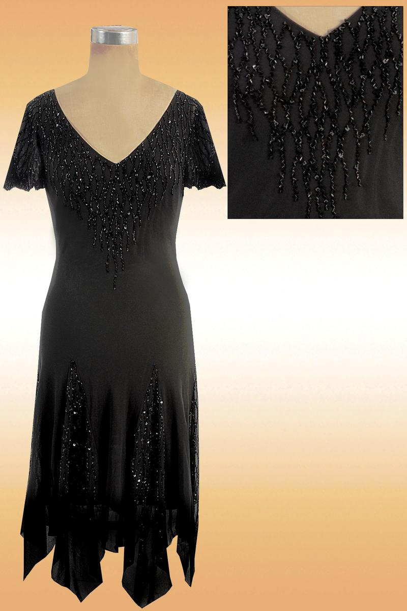 JKARA - Chiffon Beaded Dress