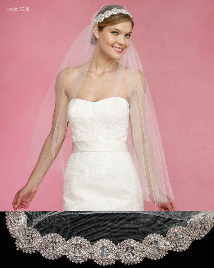 THE BRIDAL VEIL CO - VEIL/RHINEBAND