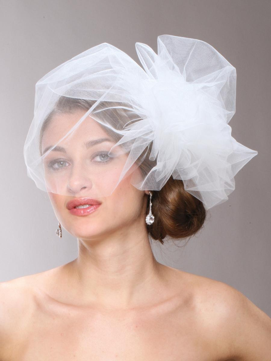 MARIELL - Chic Designer Bouffant-Style Side Veil