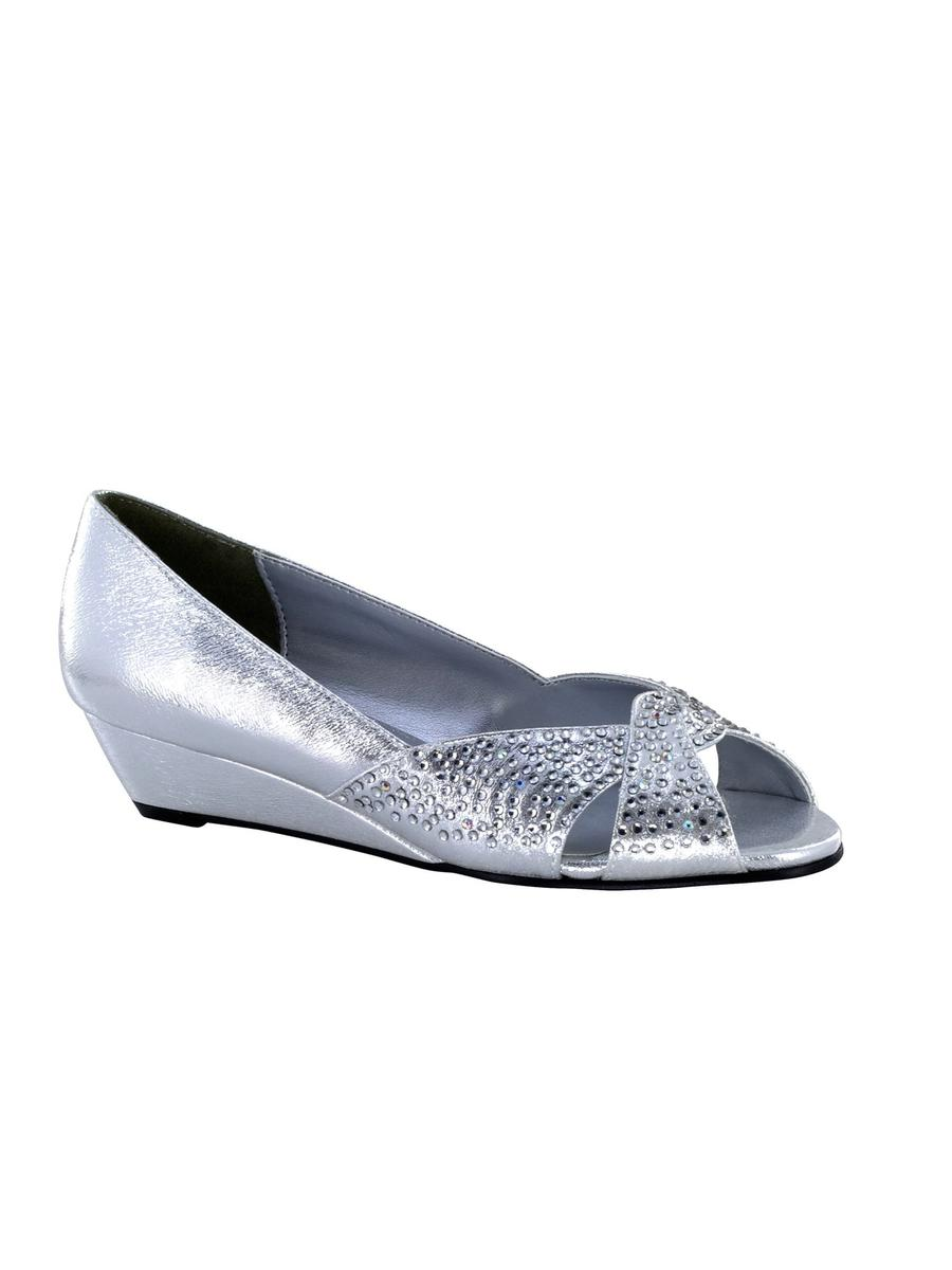 Rhinestone Low Wedge