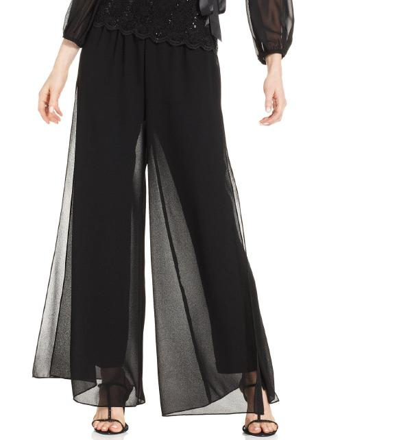 ALEX APPAREL GROUP INC - Plus Size Chiffon Flyaway Pant
