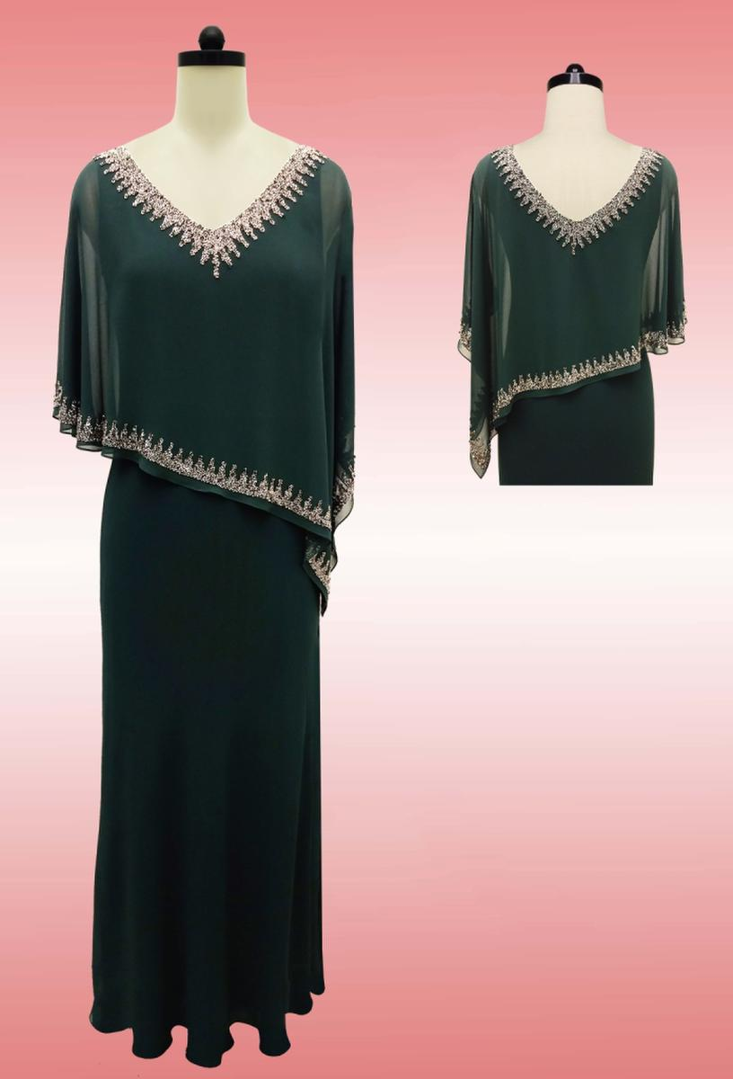 JKARA - Chiffon Gown Mock Top