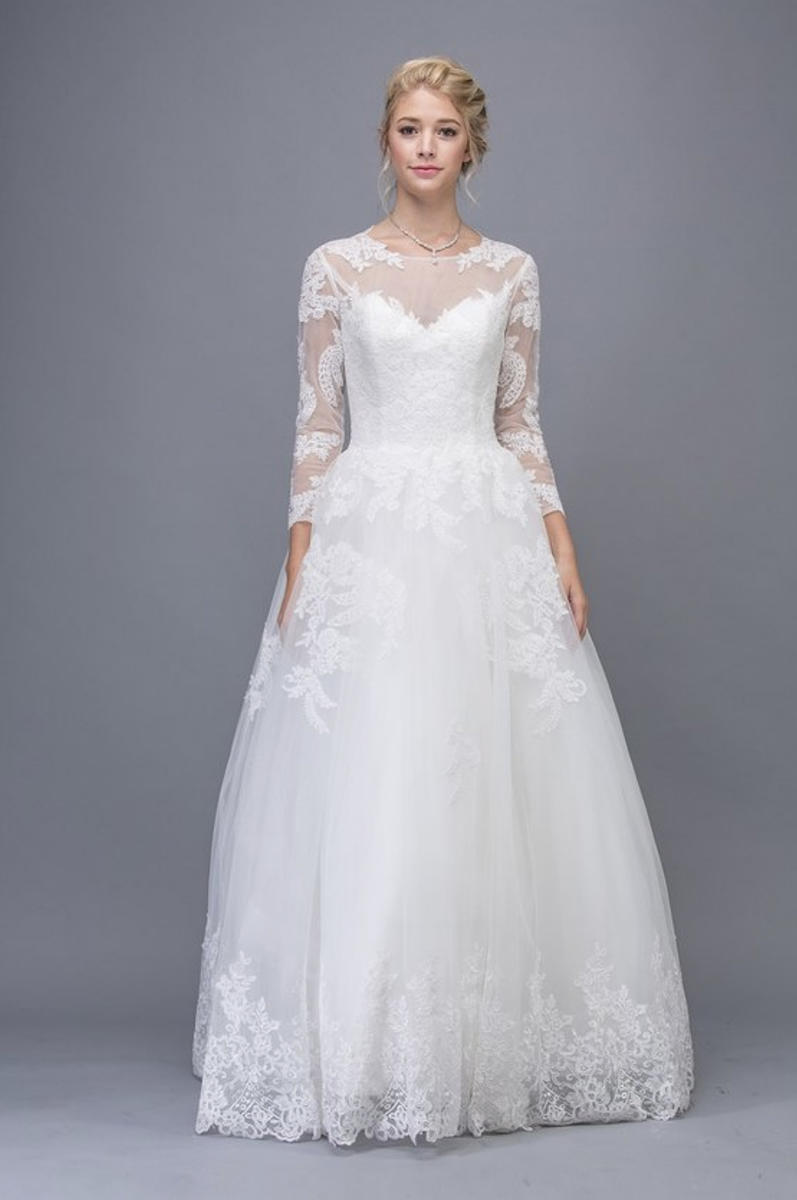 Fashion Eureka - Long Sleeve Wedding Gown