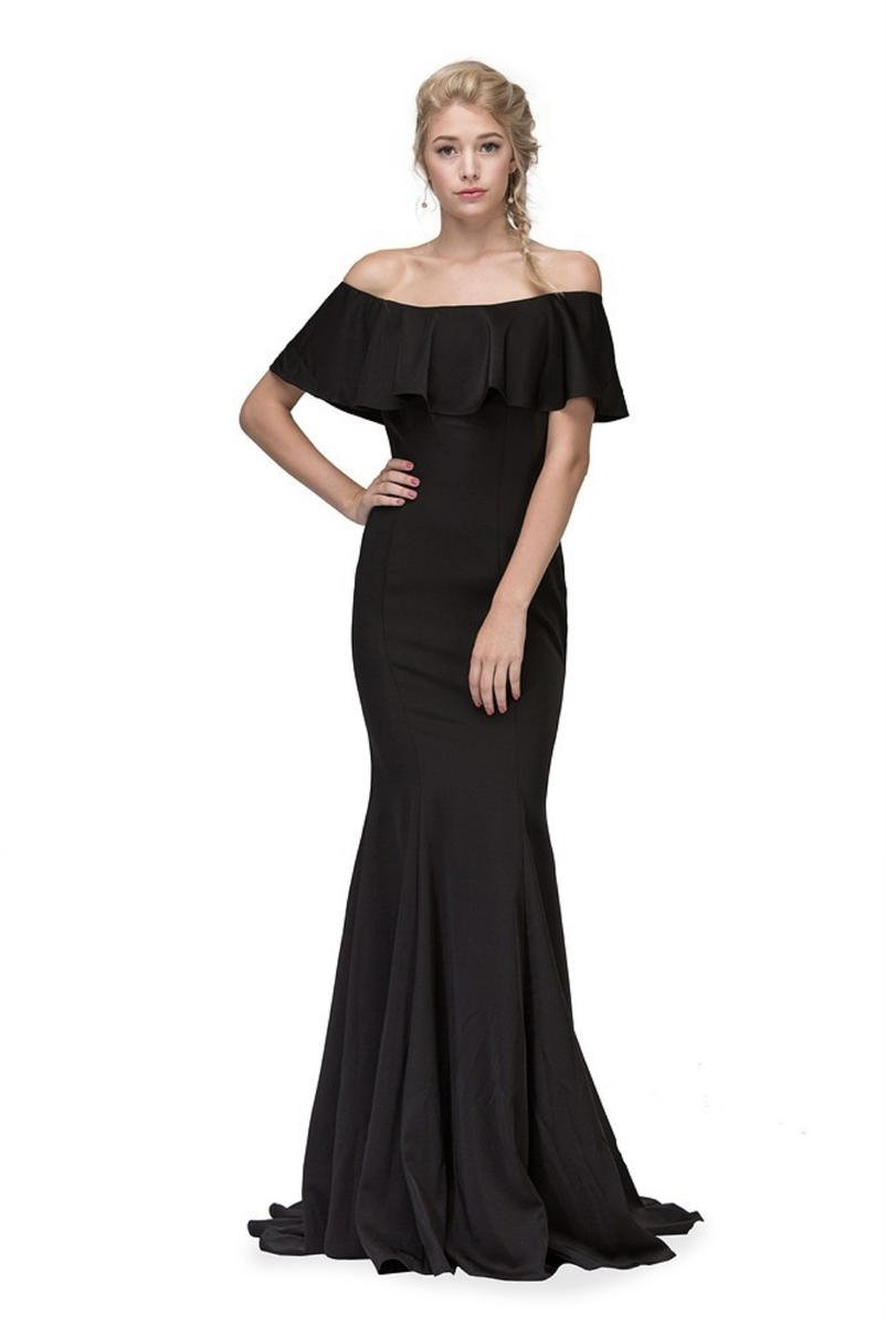 Fashion Eureka - Ruffle Off-The-Shoulder Mermaid
