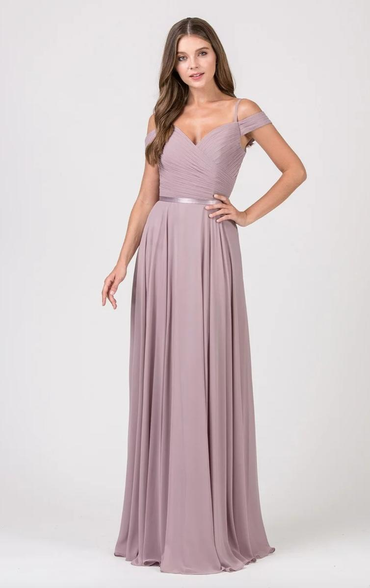 Fashion Eureka - Chiffon Gown Pleated Bodice