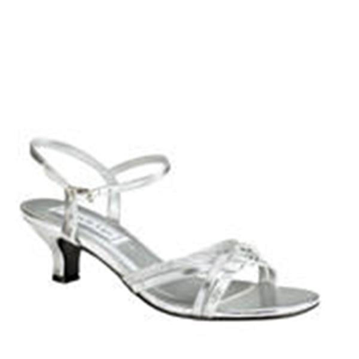 Metallic Low-Heel Open Toe Sandal