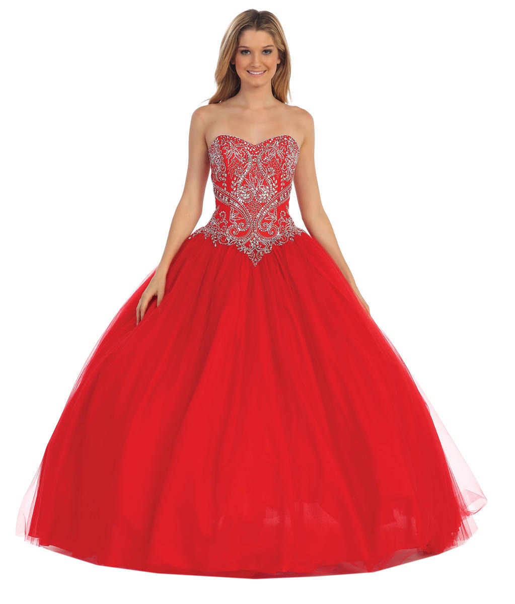 Dancing Queen - Strapless Embellished Ball Gown