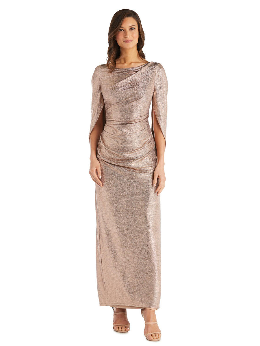 R & M Richards - Satin Metallic Gown