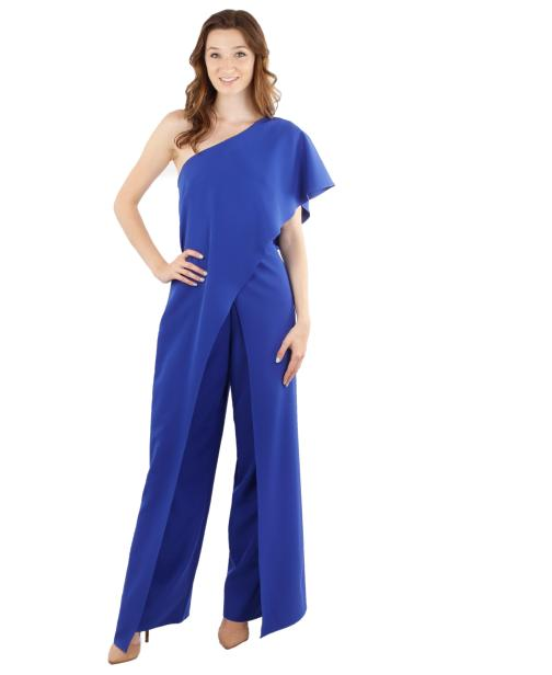 Betsy & Adam, Ltd. - One Shoulder Jersey Jumpsuit