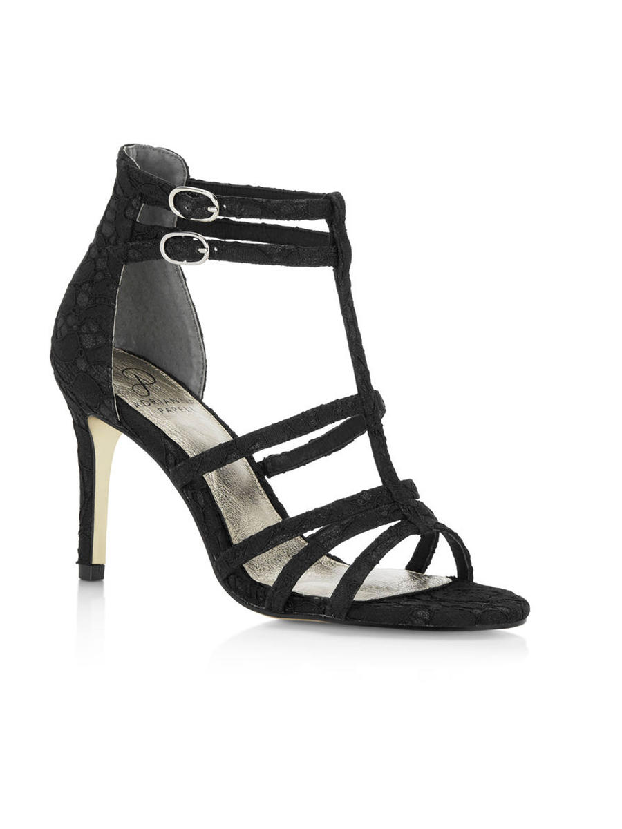THE SILVERSTEIN  CO.  / ADRIANA PAPELL - Mid Heel Lace T-Strap Gladiator