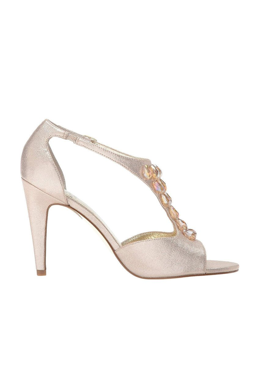 THE SILVERSTEIN  CO.  / ADRIANA PAPELL - High Heel  Beautiful Jeweled T-Strap
