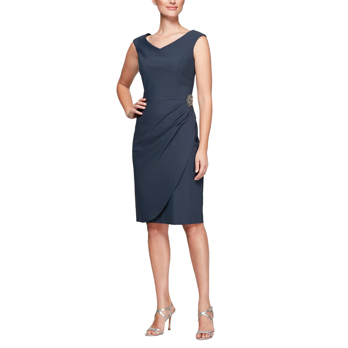 ALEX APPAREL GROUP INC - Sleeveless V-Neck Cocktail Dress