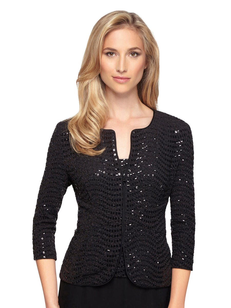 ALEX APPAREL GROUP INC - 2 Piece Sequin Jacket/Solid Camisole