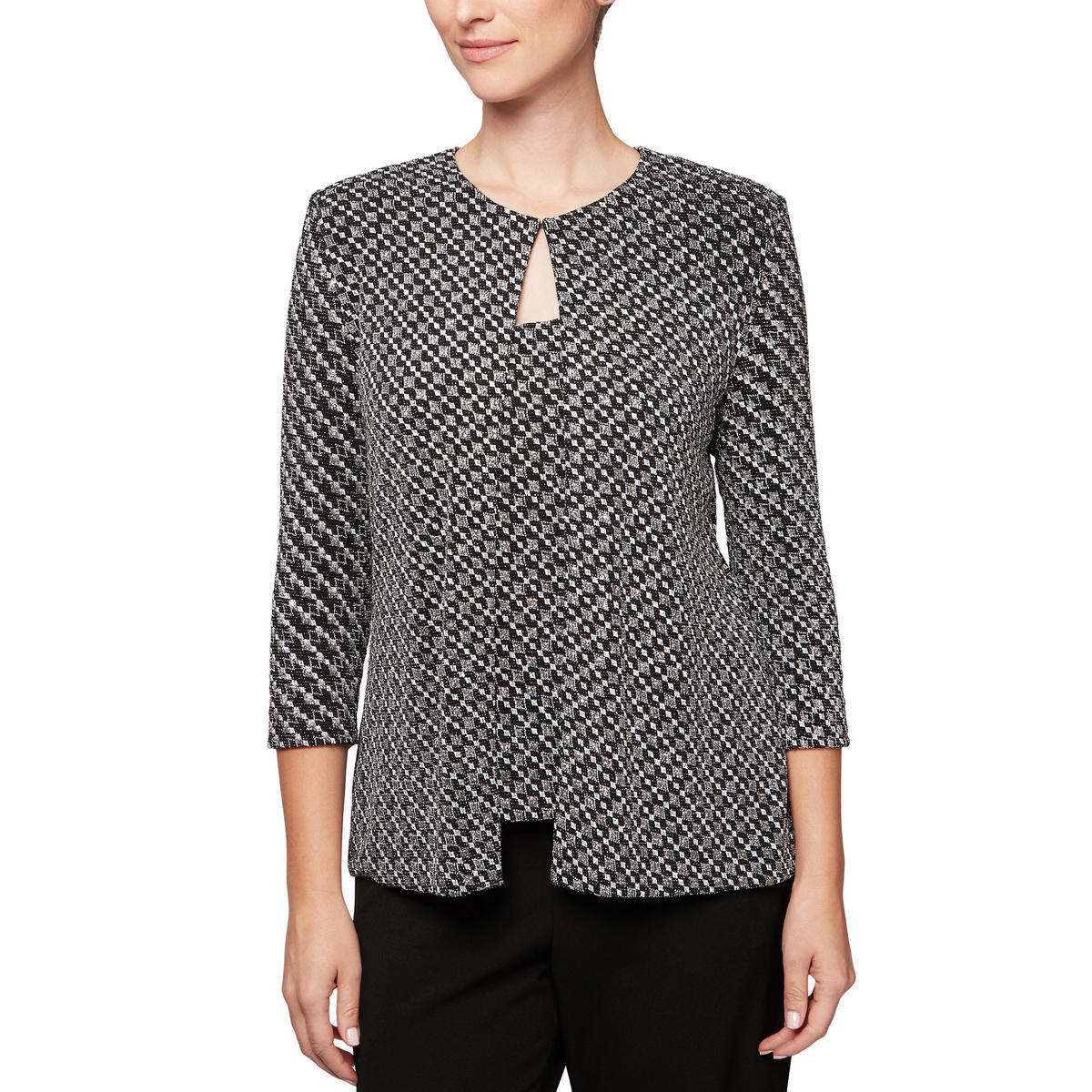 ALEX APPAREL GROUP INC - Printed Metallic Jacket & Camisole Set