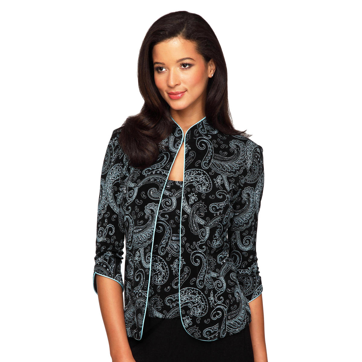 ALEX APPAREL GROUP INC - Paisley Print Jacket & Camisole
