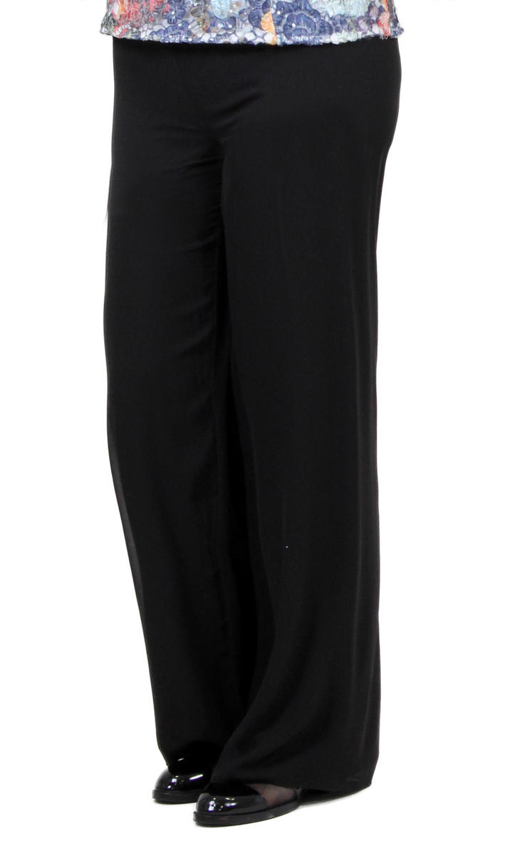 ALEX APPAREL GROUP INC - Chiffon Pants with Elastic Waist
