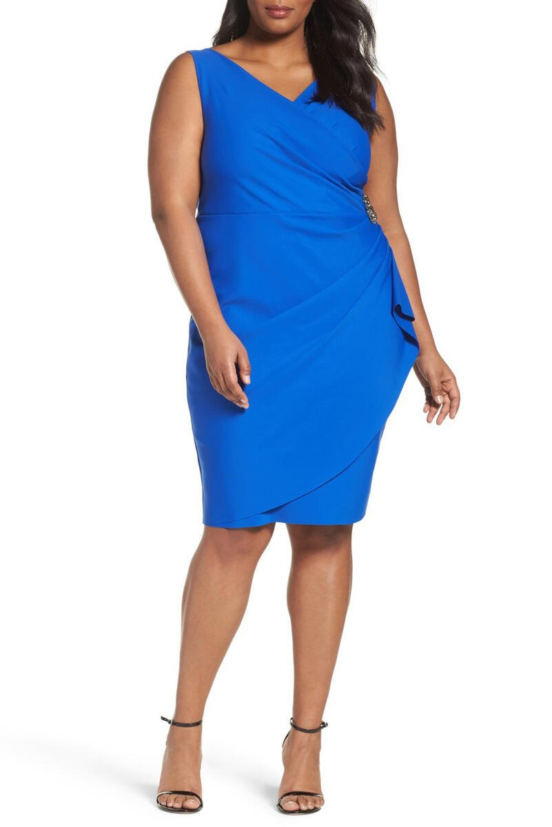 ALEX APPAREL GROUP INC - Rouched Dress