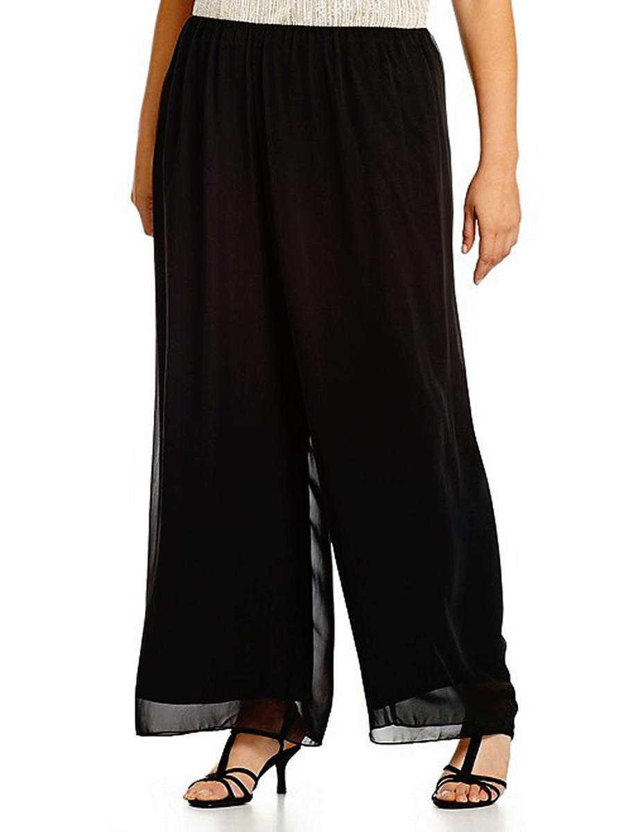 ALEX APPAREL GROUP INC - Plus Size Chiffon Pants