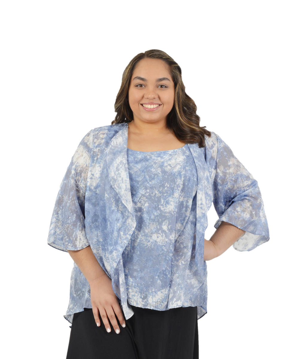 ALEX APPAREL GROUP INC - Plus Size Cascade Kimono & Camisole Set