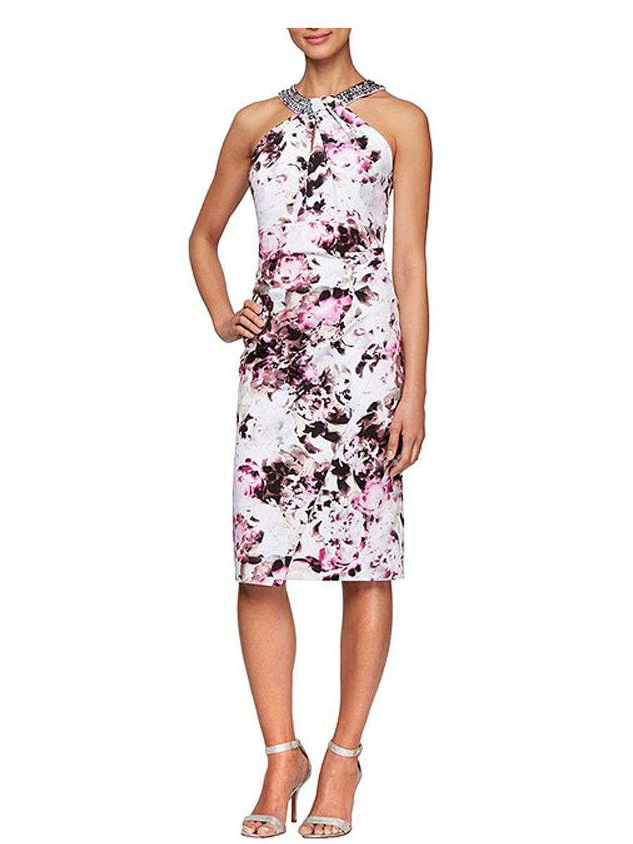 ALEX APPAREL GROUP INC - Print Sheath Dress