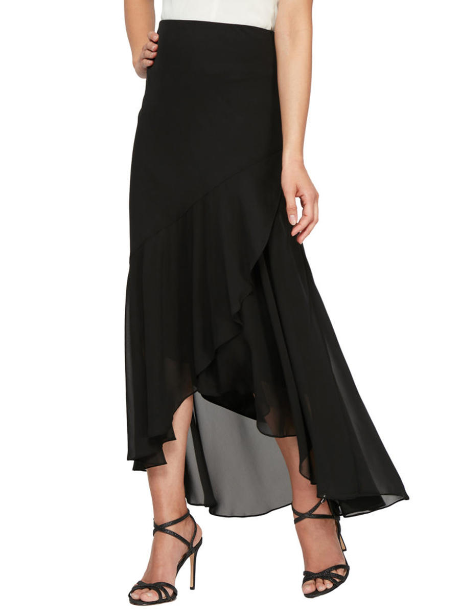 ALEX APPAREL GROUP INC - Chiffon High Low Skirt