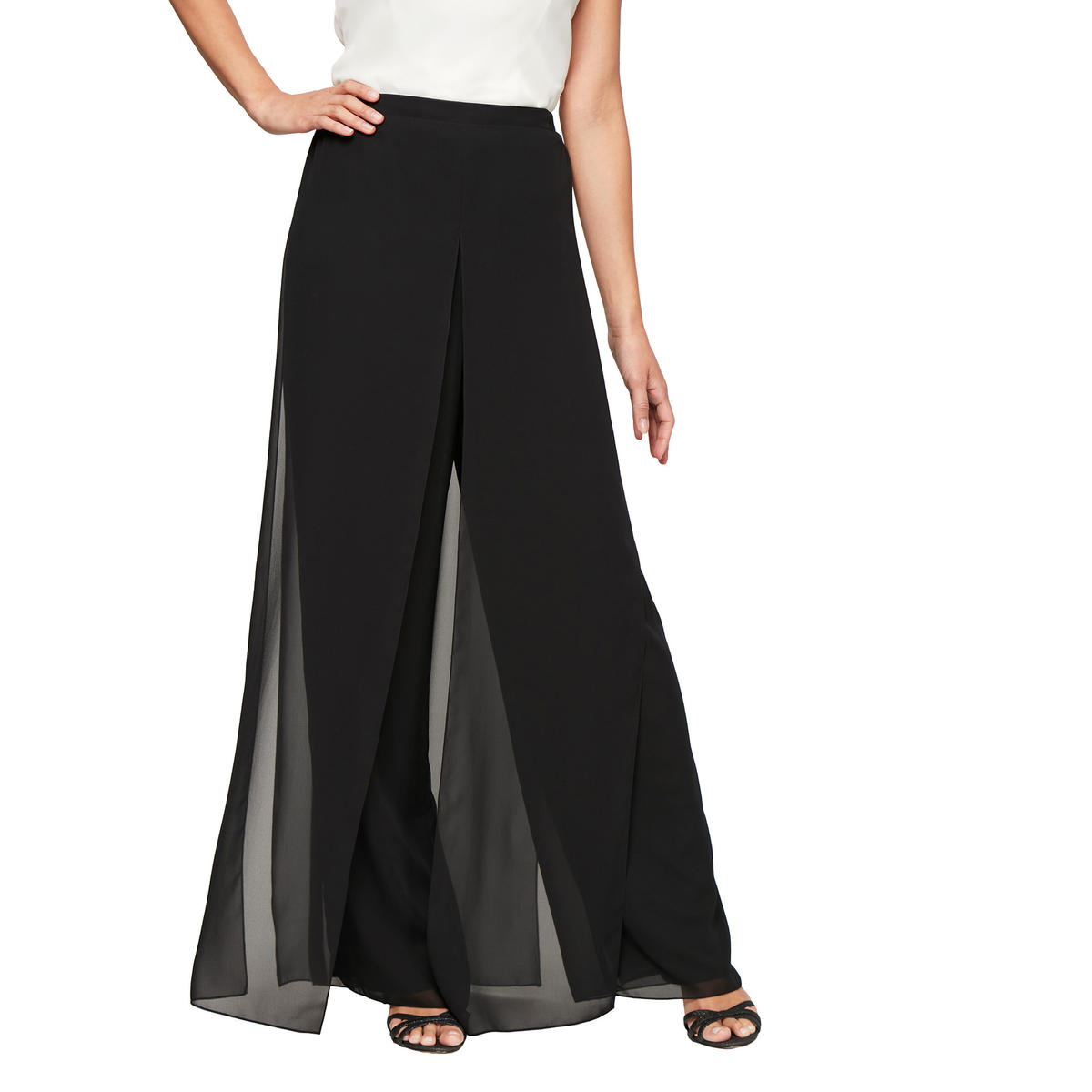 ALEX APPAREL GROUP INC - Chiffon Flyaway Pants