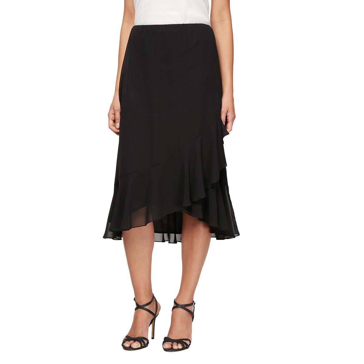 ALEX APPAREL GROUP INC - Flared Chiffon Skirt