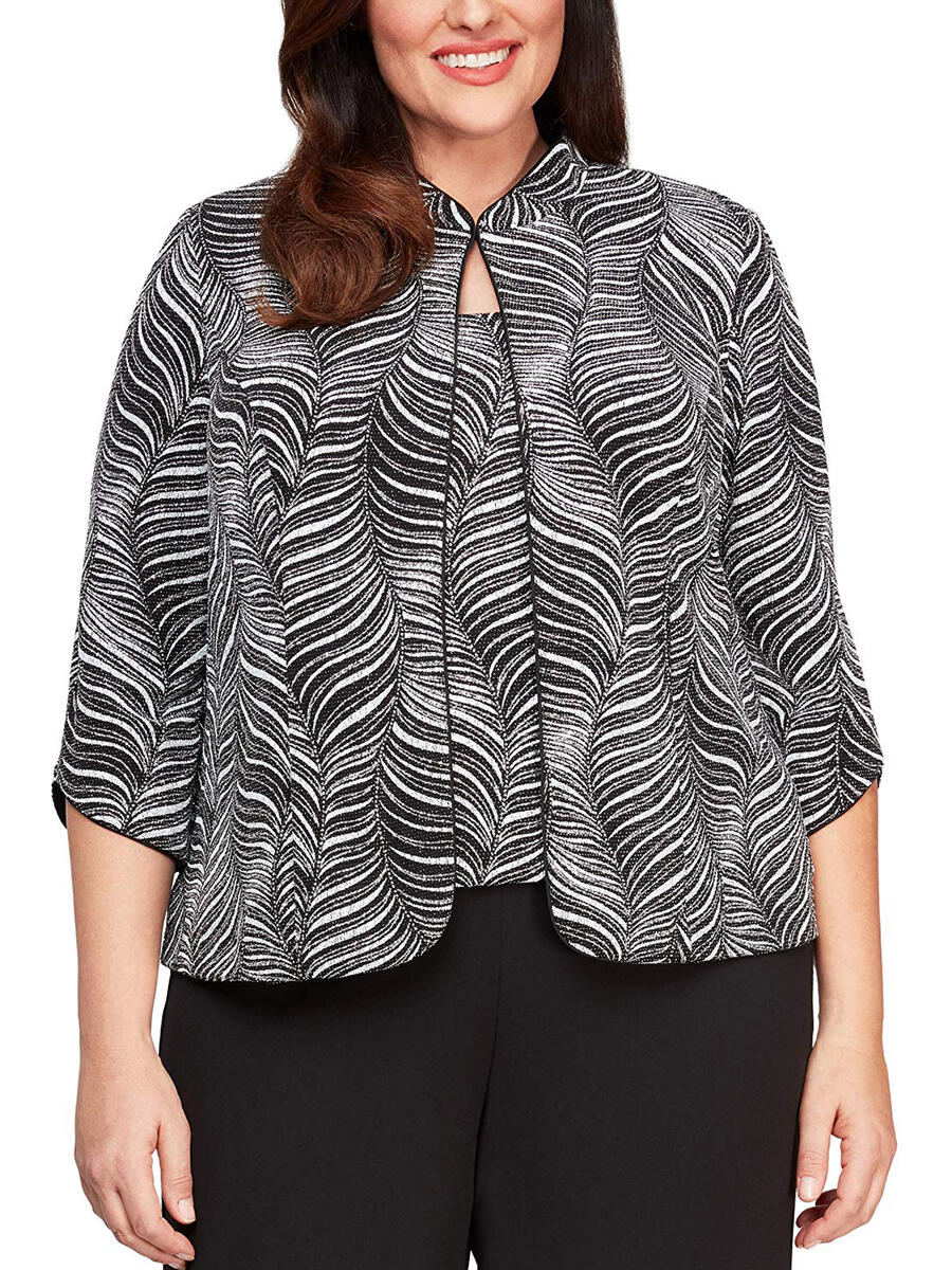 ALEX APPAREL GROUP INC - Two Piece Metallic Long Sleeve with Jacket