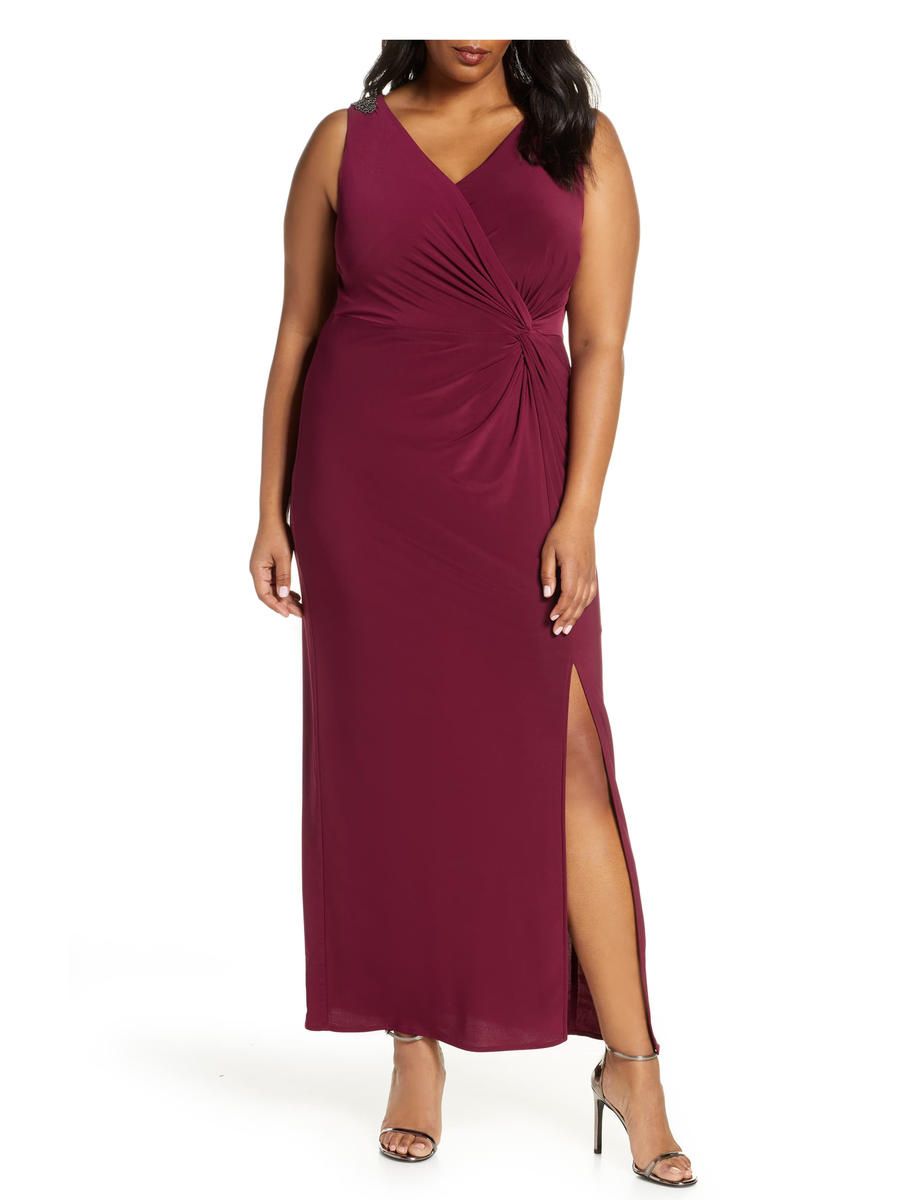 ALEX APPAREL GROUP INC - Chiffon Gown-Bead Shoulder