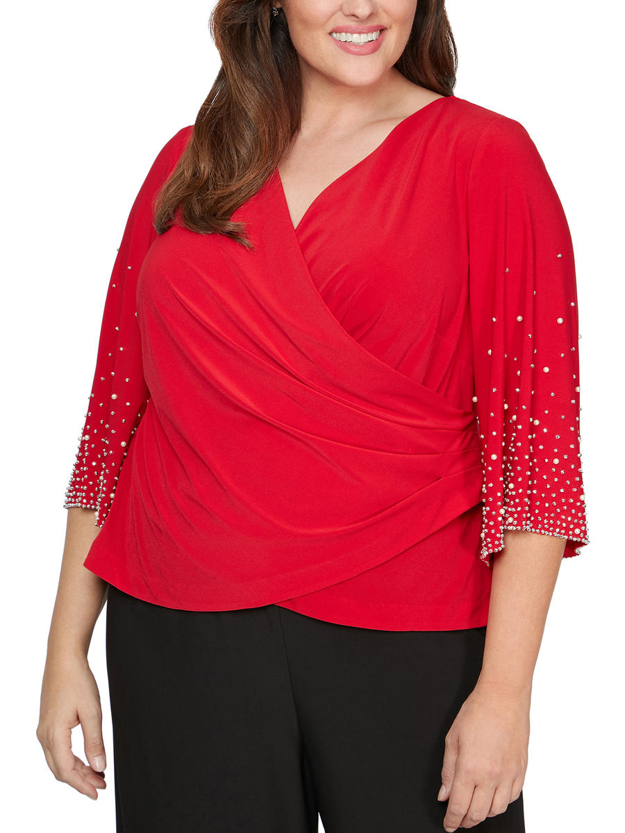 ALEX APPAREL GROUP INC - Jersey Top Beaded Long Sleeve