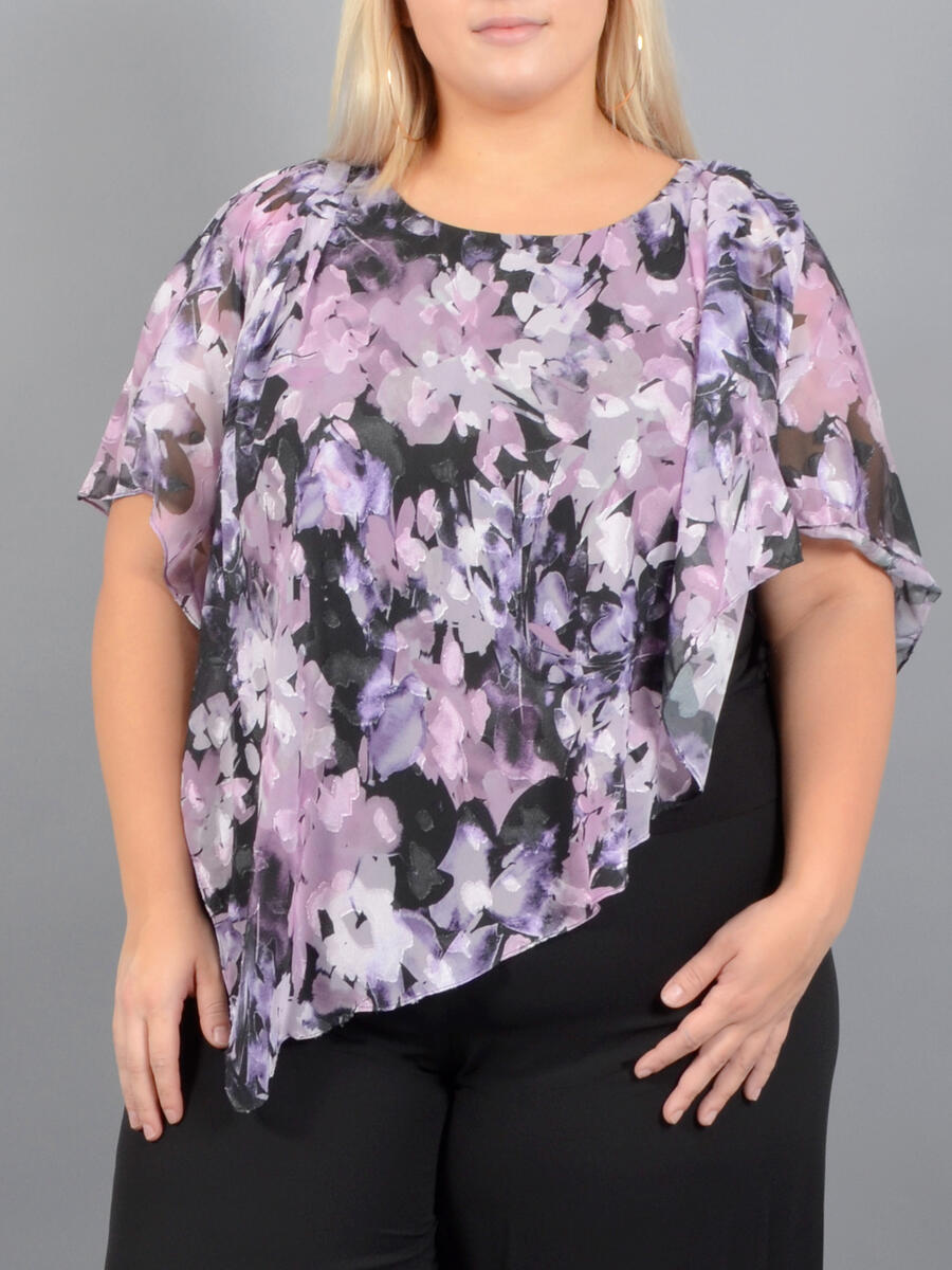 ALEX APPAREL GROUP INC - Short Sleeve Asymetrical Top