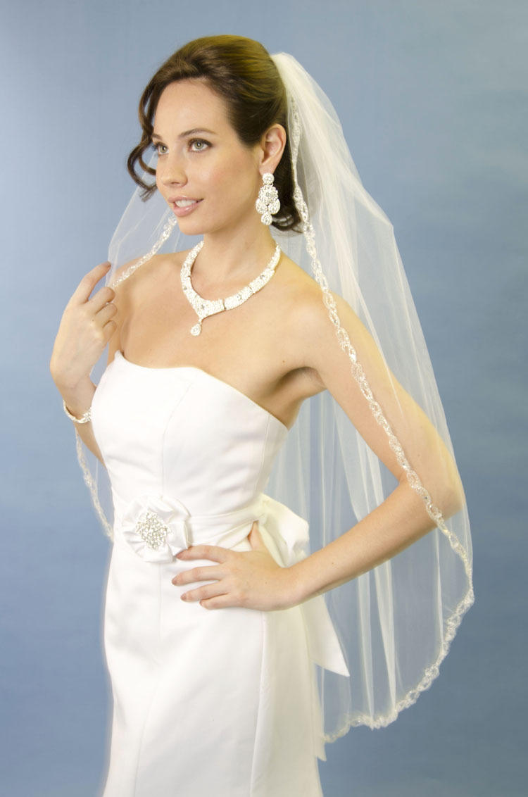 ANSONIA BRIDAL VEIL - 1 TIER FINGERTIP