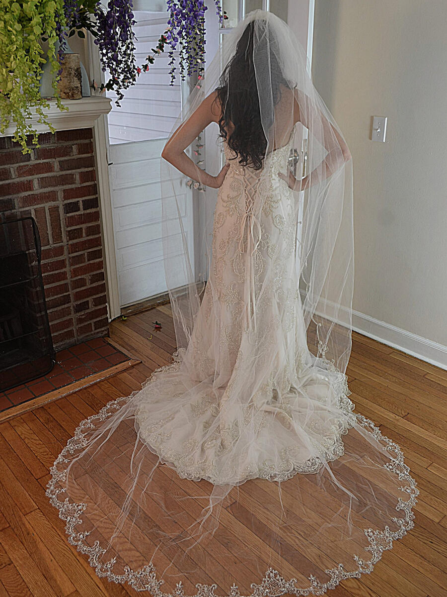 ANSONIA BRIDAL VEIL - Scalloped 120 inches