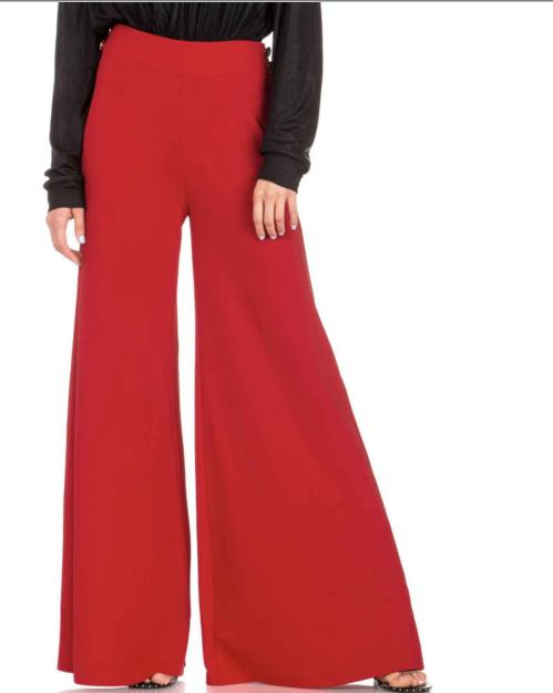 Dance and Marvel - Satin Button Waist Palazzo Pants AP0158