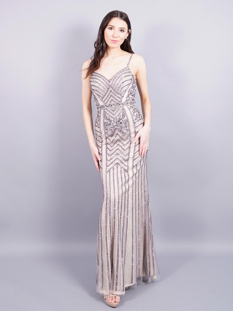 ASPEED - Lace and Bead Gown-Shawl